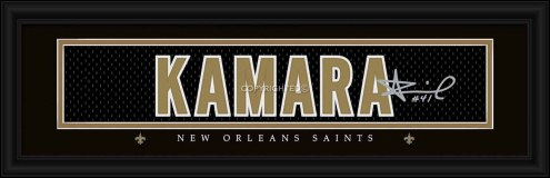 New Orleans Saints Kamara Framed Signature Nameplate