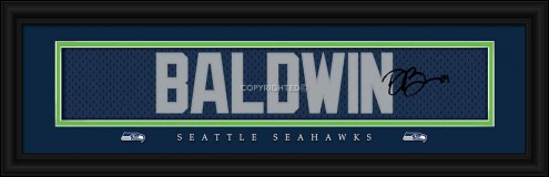 Seattle Seahawks Baldwin Framed Signature Nameplate