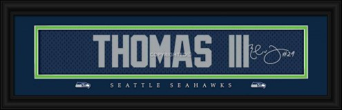 Seattle Seahawks Thomas III Framed Signature Nameplate