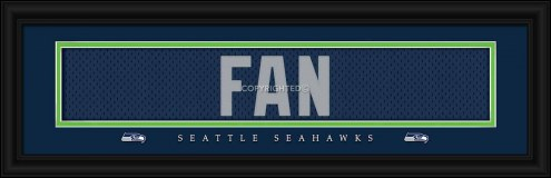 Seattle Seahawks Fans Framed Signature Nameplate