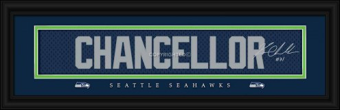 Seattle Seahawks Chancellor Framed Signature Nameplate