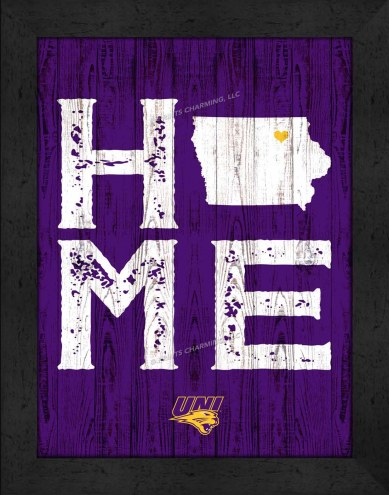 Northern Iowa Panthers Home Away From Home Wall Decor