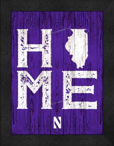 Northwestern Wildcats Home Away From Home Wall Decor