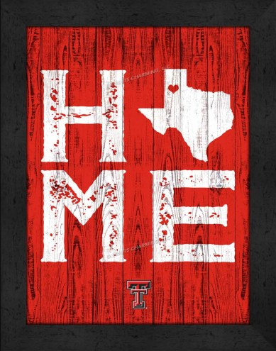 Texas Tech Red Raiders Home Away From Home Wall Decor