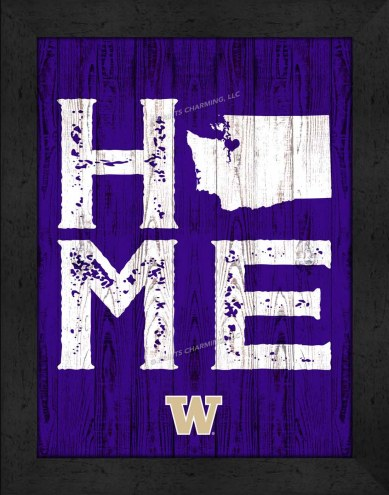 Washington Huskies Home Away From Home Wall Decor