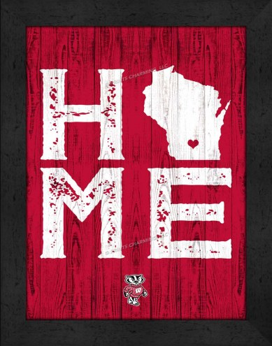 Wisconsin Badgers Home Away From Home Wall Decor