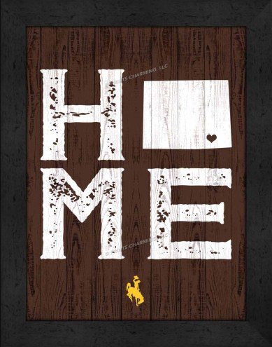 Wyoming Cowboys Home Away From Home Wall Decor