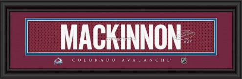 Colorado Avalanche MacKinnon Framed Signature Nameplate