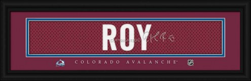 Colorado Avalanche  Roy Framed Signature Nameplate