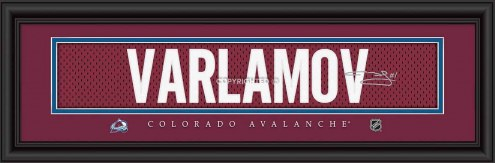 Colorado Avalanche Varlamov Framed Signature Nameplate
