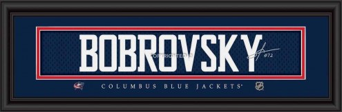 Columbus Blue Jackets Bobrovsky Framed Signature Nameplate