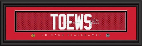 Chicago Blackhawks Toews Framed Signature Nameplate