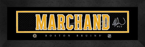 Boston Bruins Marchand Framed Signature Nameplate