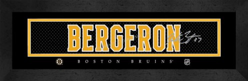 Boston Bruins Bergeron Framed Signature Nameplate