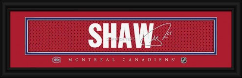 Montreal Canadiens Shaw Framed Signature Nameplate