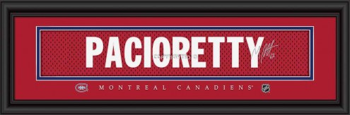 Montreal Canadiens Pacioretty Framed Signature Nameplate