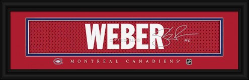 Montreal Canadiens Weber Framed Signature Nameplate