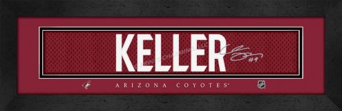 Arizona Coyotes Keller Framed Signature Nameplate