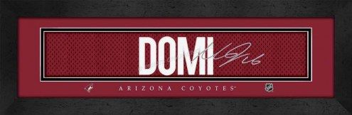 Arizona Coyotes Domi Framed Signature Nameplate