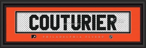 Philadelphia Flyers Couturier Framed Signature Nameplate