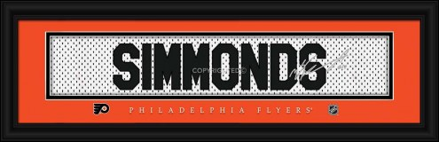 Philadelphia Flyers Simmonds Framed Signature Nameplate