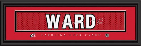 Carolina Hurricanes Ward Framed Signature Nameplate