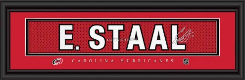 Carolina Hurricanes Staal Framed Signature Nameplate