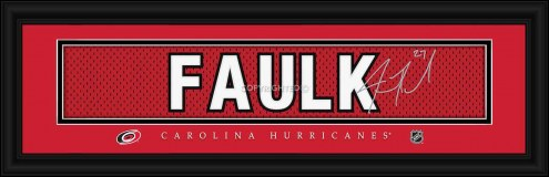 Carolina Hurricanes Faulk Framed Signature Nameplate