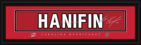Carolina Hurricanes Hanifin Framed Signature Nameplate