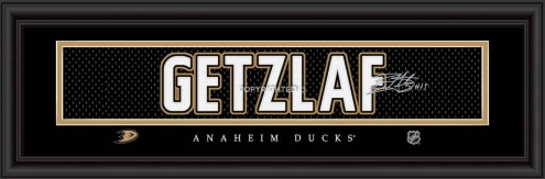 Anaheim Ducks Getzlaf Framed Signature Nameplate