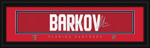 Florida Panthers Barkov Framed Signature Nameplate