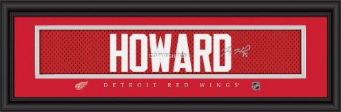 Detroit Red Wings Howard Framed Signature Nameplate