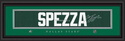 Dallas Stars Spezza Framed Signature Nameplate
