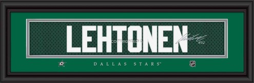 Dallas Stars Lehtonen Framed Signature Nameplate