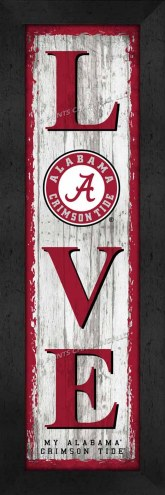 Alabama Crimson Tide Love My Team Vertical Wall Decor