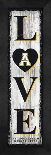 Appalachian State Mountaineers Love My Team Vertical Wall Decor
