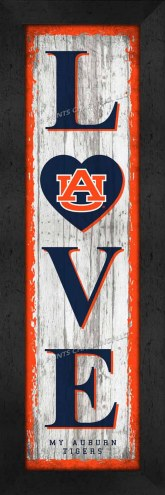 Auburn Tigers Love My Team Vertical Wall Decor