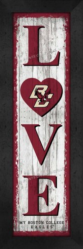 Boston College Eagles Love My Team Vertical Wall Decor
