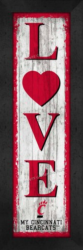 Cincinnati Bearcats Love My Team Vertical Wall Decor