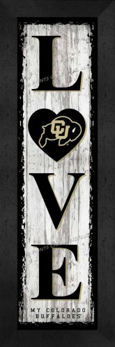 Colorado Buffaloes Love My Team Vertical Wall Decor