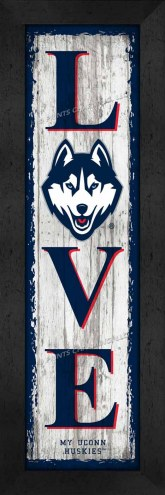 Connecticut Huskies Love My Team Vertical Wall Decor