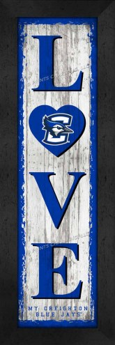 Creighton Bluejays Love My Team Vertical Wall Decor