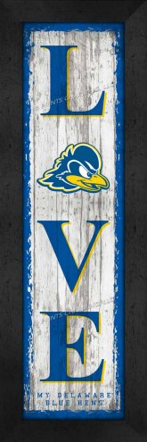 Delaware Blue Hens Love My Team Vertical Wall Decor