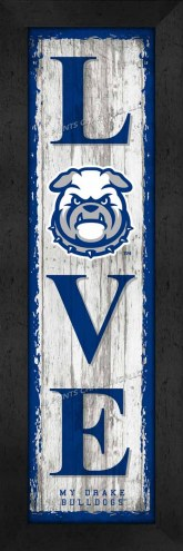 Drake Bulldogs Love My Team Vertical Wall Decor