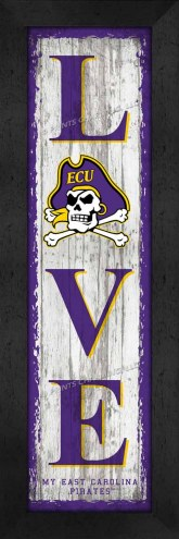 East Carolina Pirates Love My Team Vertical Wall Decor