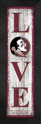 Florida State Seminoles Love My Team Vertical Wall Decor