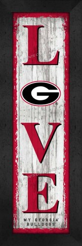 Georgia Bulldogs Love My Team Vertical Wall Decor