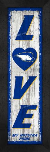 Hofstra Pride Love My Team Vertical Wall Decor