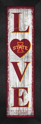 Iowa State Cyclones Love My Team Vertical Wall Decor