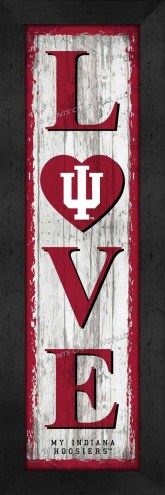 Indiana Hoosiers Love My Team Vertical Wall Decor